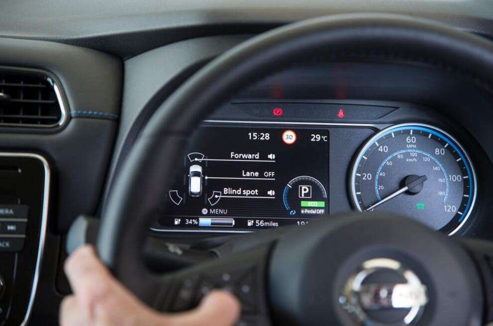 A Nissan Leaf knows the speed limit, but cannot match the speed limiter to it automatically. That requires constant adjustment to the speed limiter by the driver.
