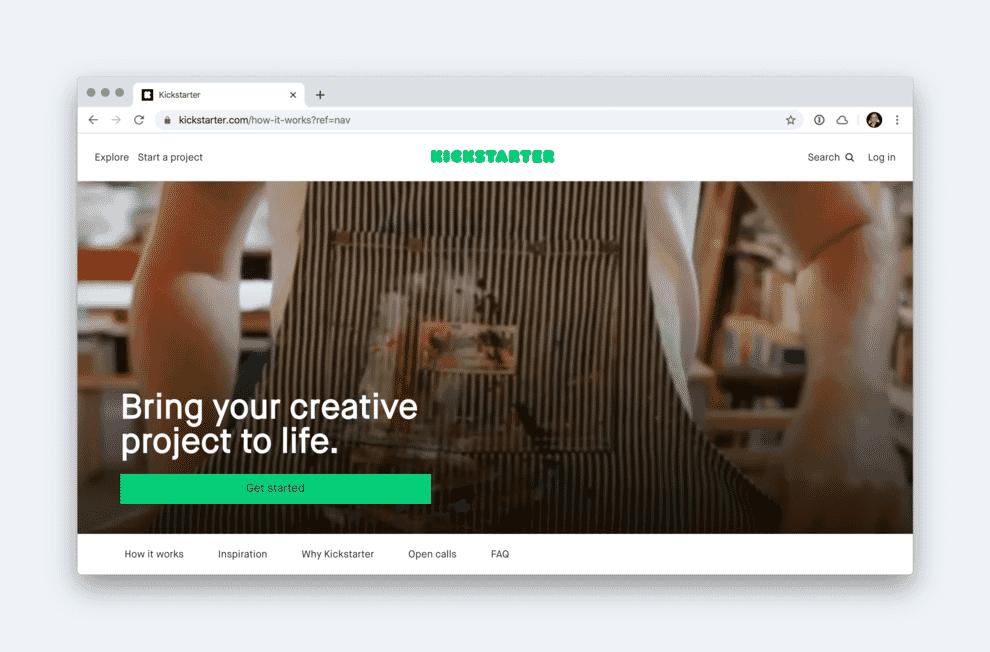 Launching a software as a service platform via Kickstarter.