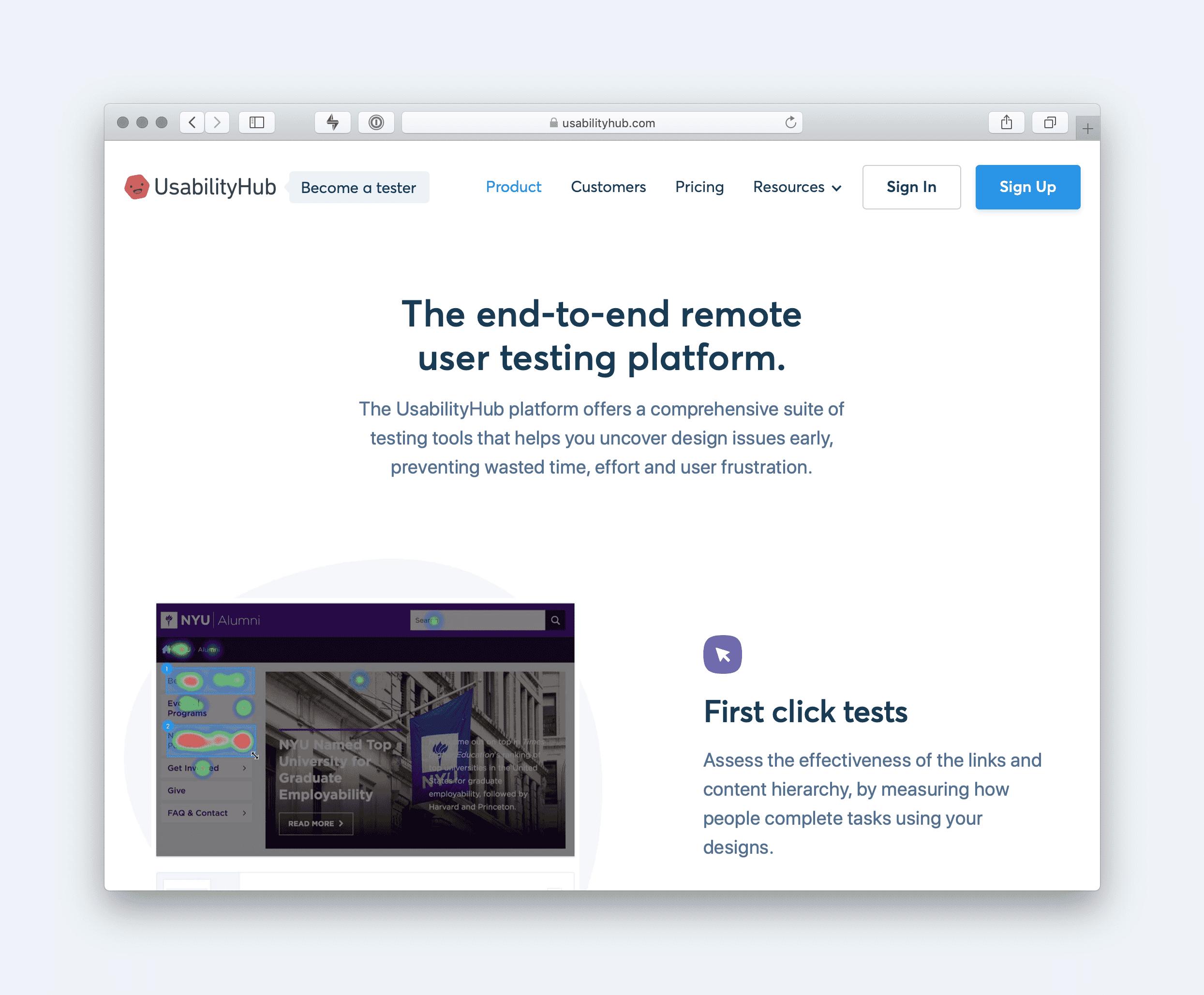 UsabilityHub Website