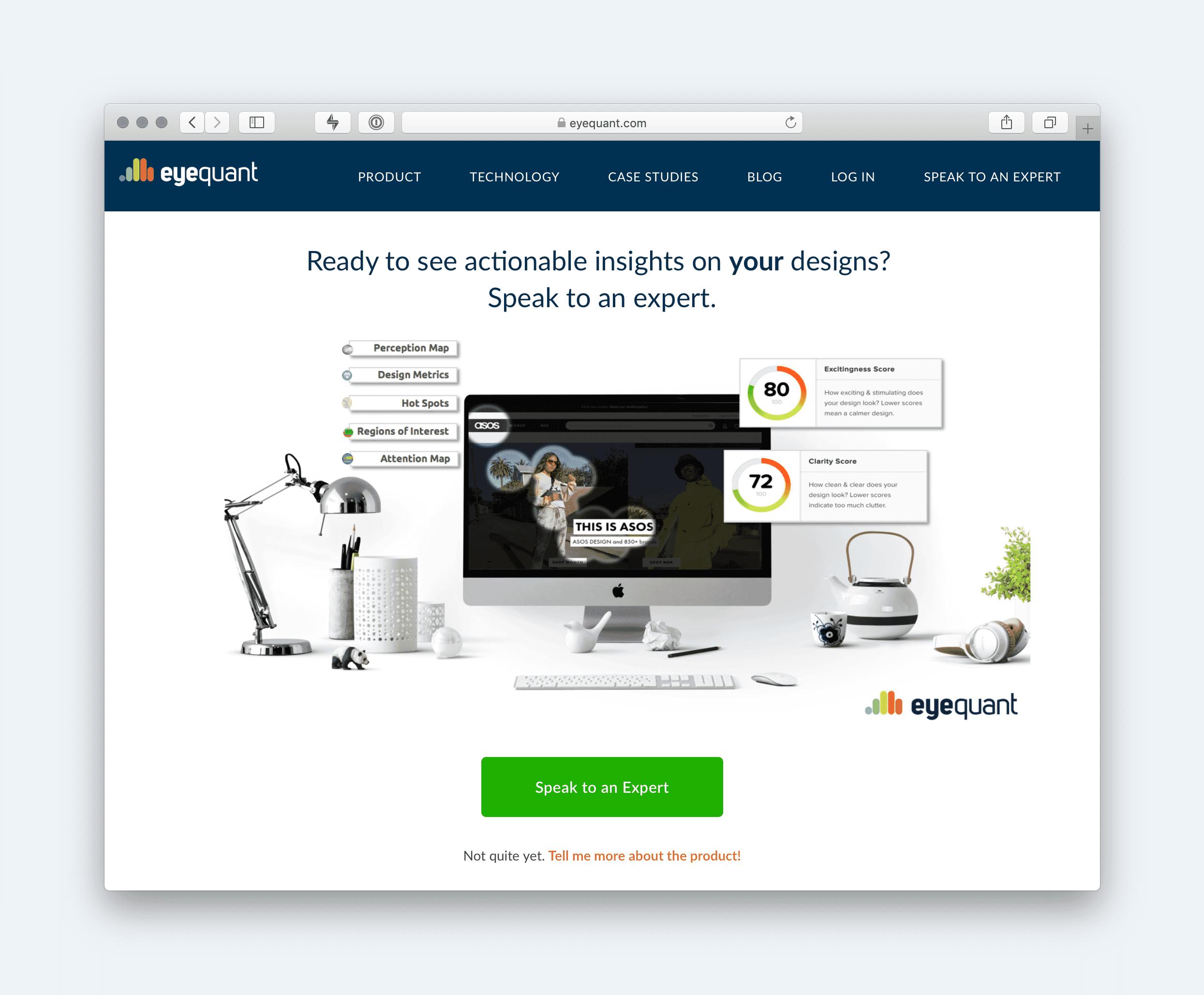 Eyequant website