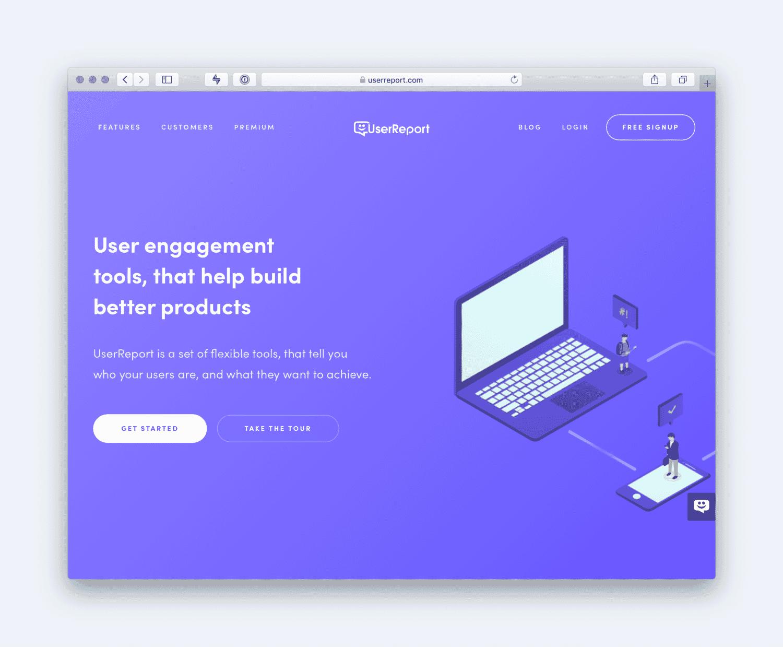 User Reports Website