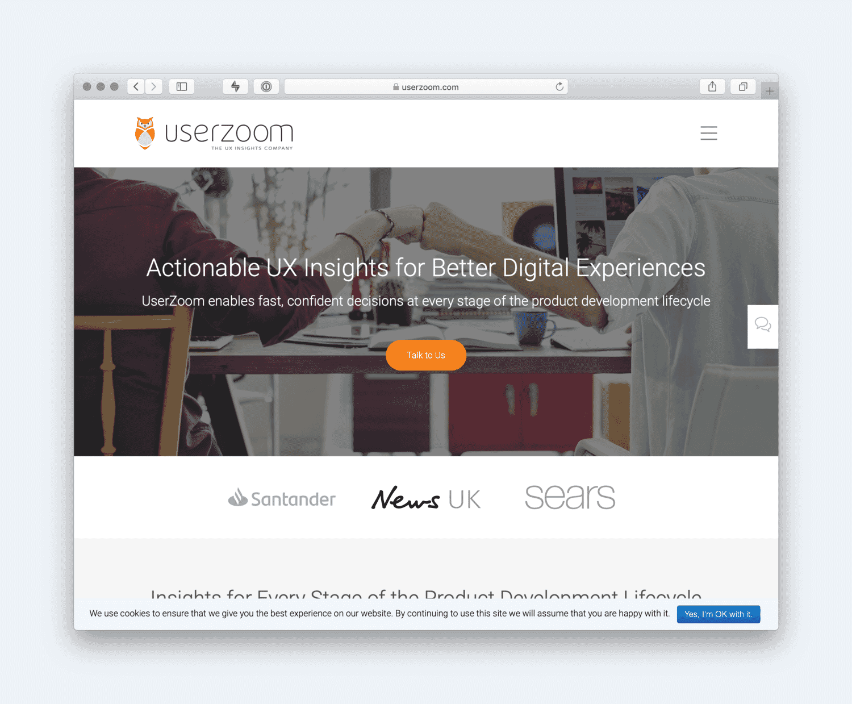 Userzoom website