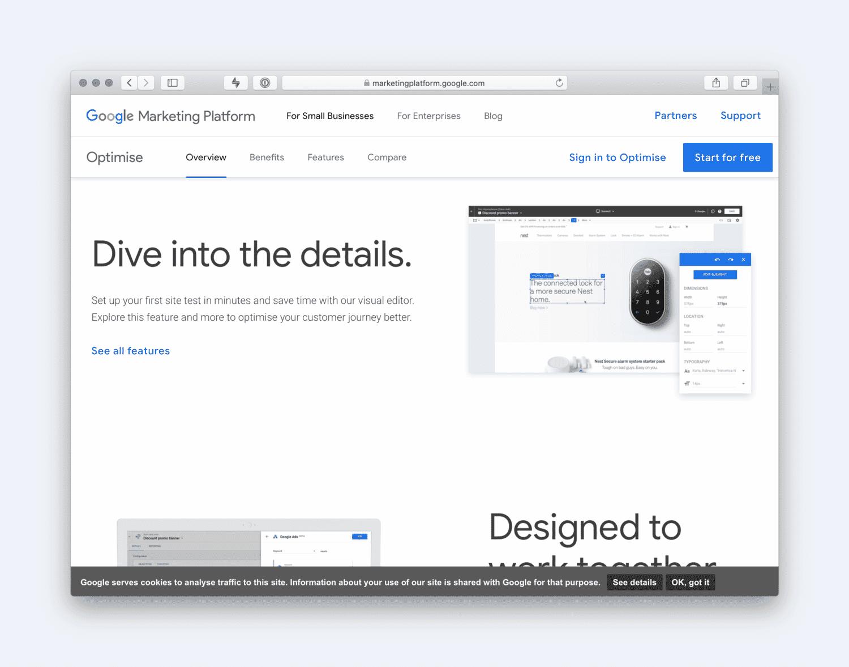 Google Optimise Site