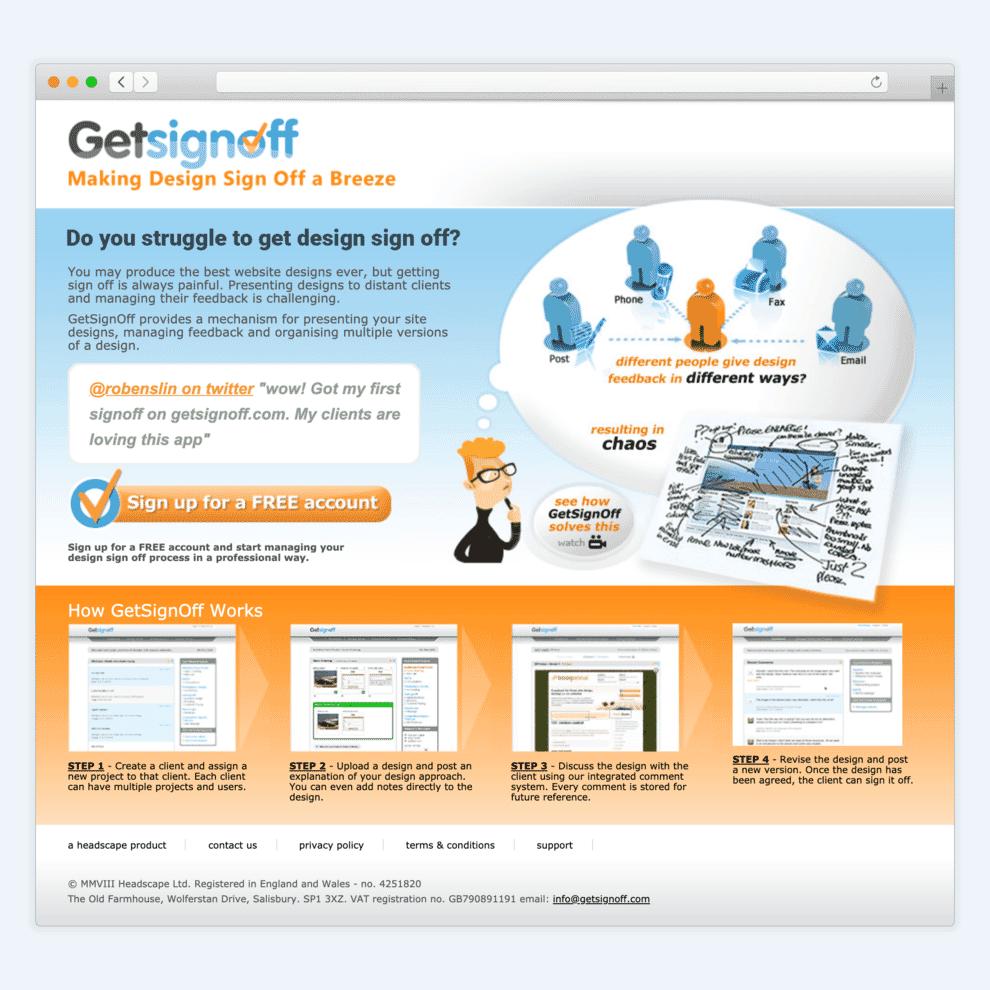 Get Signoff website.
