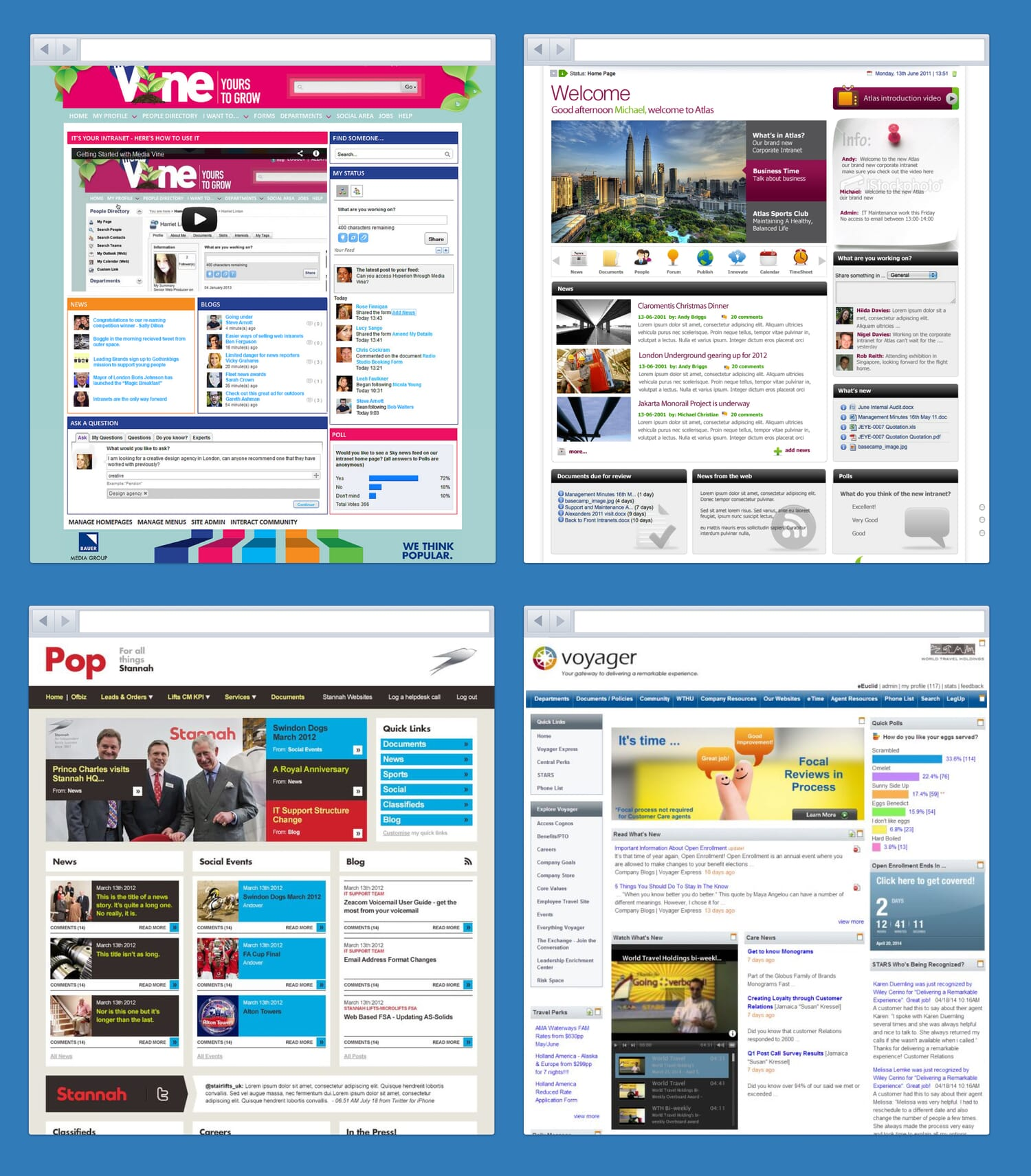 Examples of intranet design