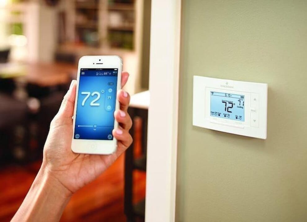 Example of a poorly designed smart home thermostat interface.