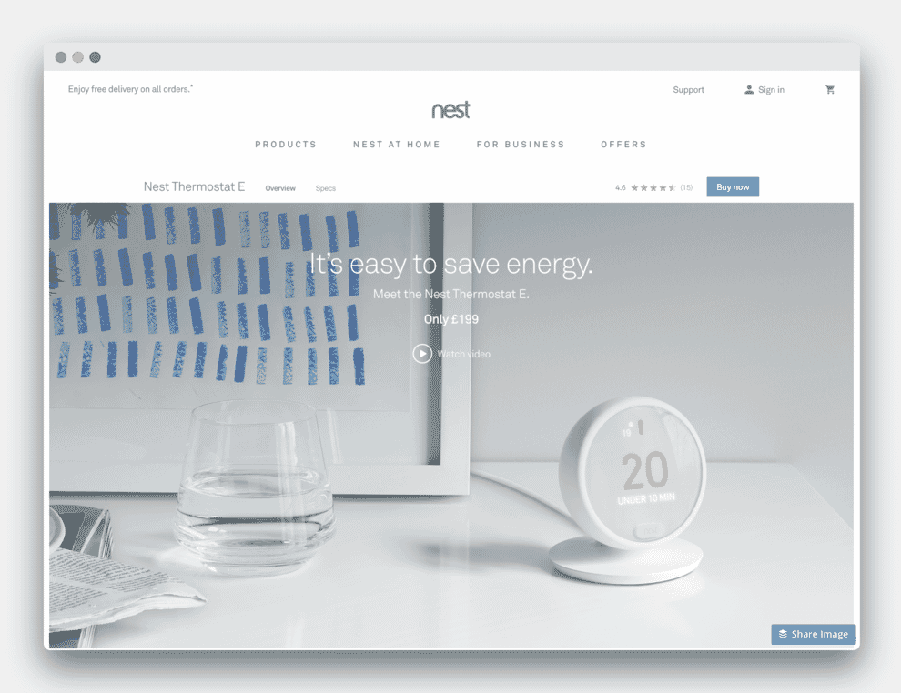 Nest E Website.